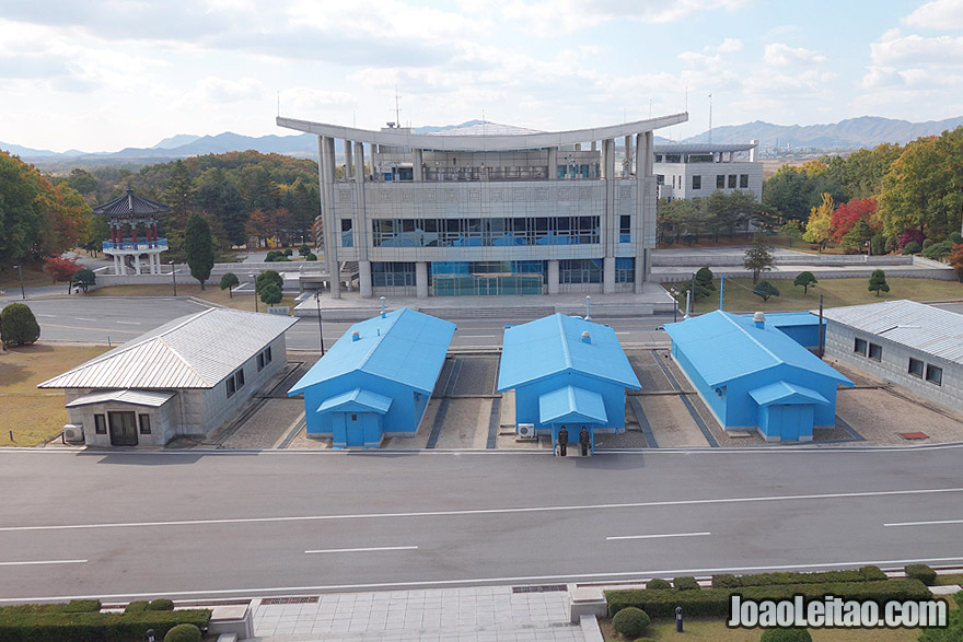 In Panmunjom you can visit the complex of the Korea's demilitarized zone often called as DMZ.