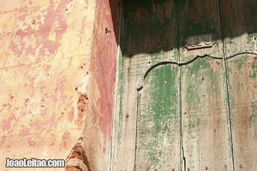 Old door detail in Trinidad
