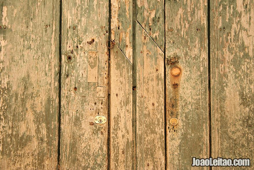 Wooden door detail in Trinidad