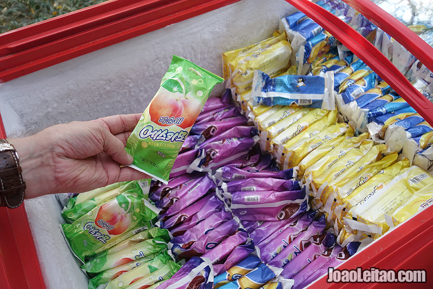 North Koreans love ice creams and you can notice people buying them on a daily basis.