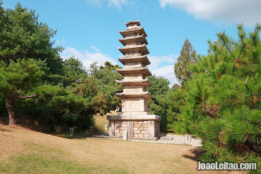 Beautiful stone pagoda in the Temple Complex of Songgyungwan