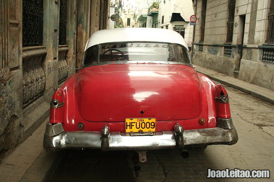Red Cadillac in Havana