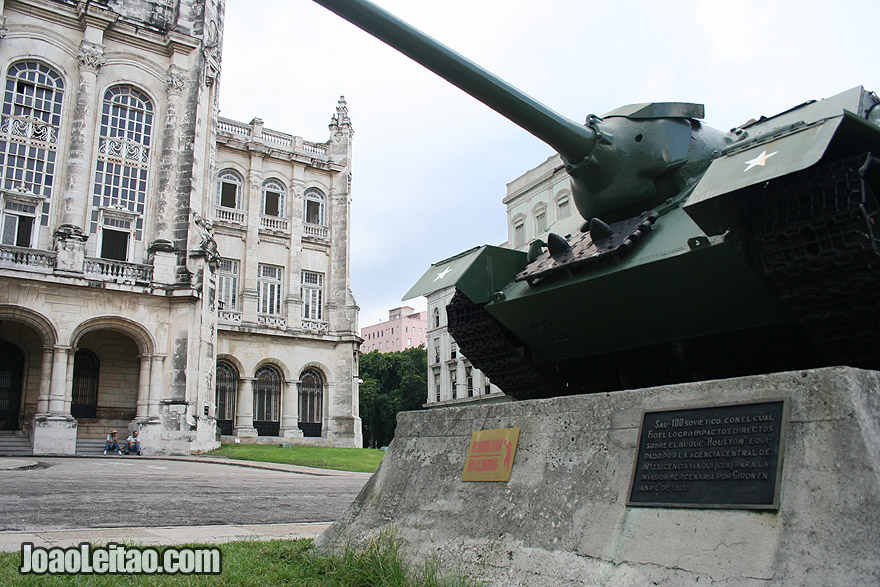 Russian tank outside the Museum of the Revolution in Havana