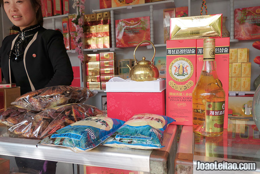 Shopping in North Korea is a must. Probably the most famous products of the country is the famous Ginseng root.