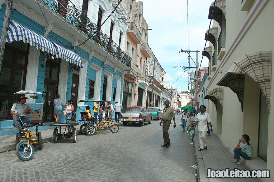 Beautiful street in Camaguey center