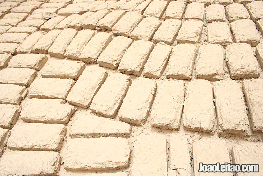 Traditional mud bricks