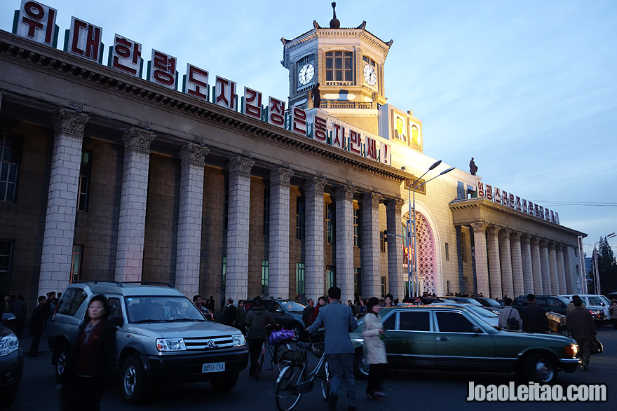 Train Station in Pyongyang - this station serves most of the bigger cities in DPRK and also two international night connections to Beijing and Moscow.