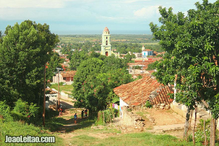 Vista da parte alta da Villa de la Santíssima Trinidad Trinidad - uma cidade cubana que é  considerada Património Mundial da Humanidade pela UNESCO