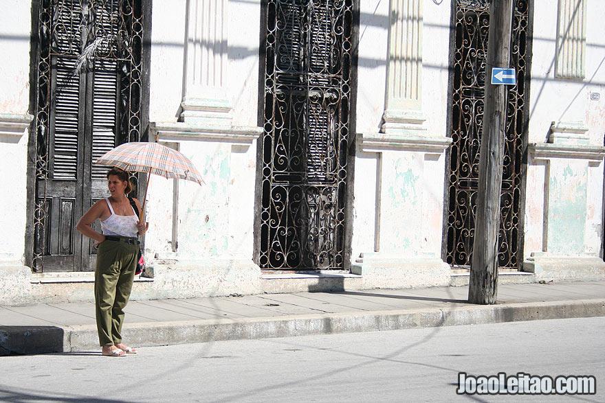 Woman in Santa Clara street