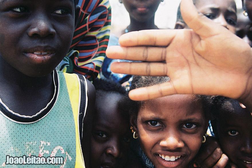 Children playing, Senegal
