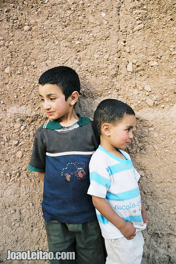 Photo of young boys playing together, Morocco