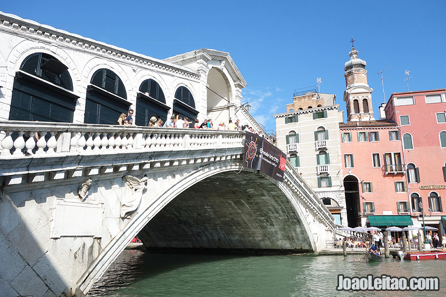 Rialto Bridge in the Grand Canal