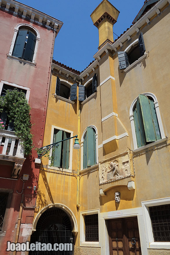 Colorful building in Venice