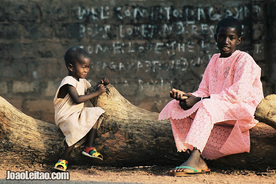 Children in Basse Santa-Su, Gambia