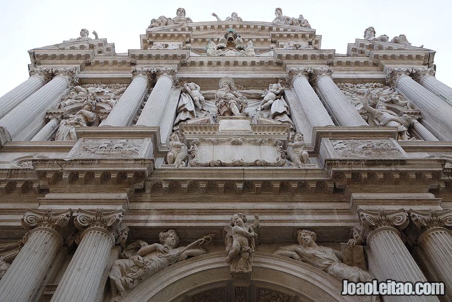 Venetian church portico detail