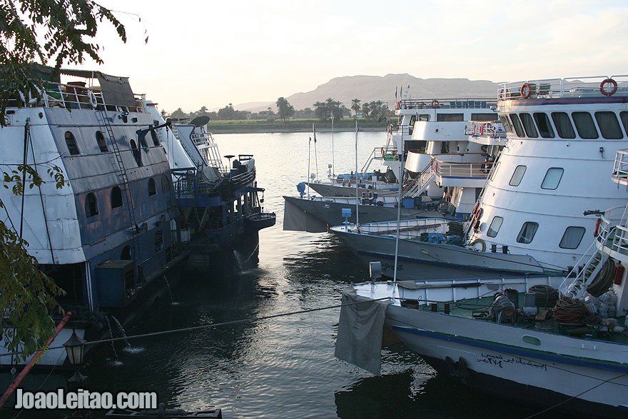 Cruise ships in Nile River