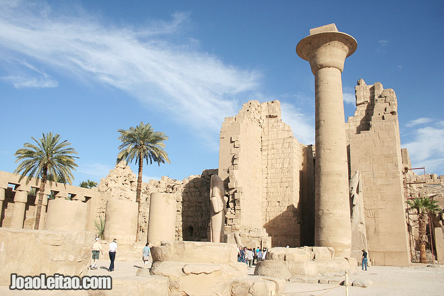 4000-year-old Karnak Temple dedicated to Amun, Khonsu and Mut
