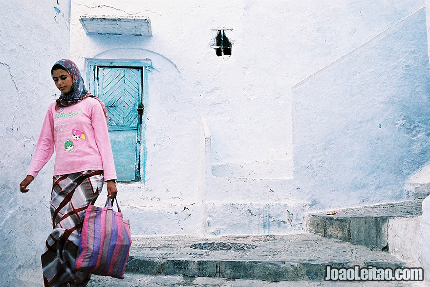 Photo of girl in Chefchaouen, Morocco