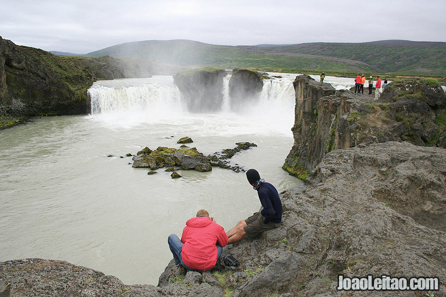 Godafoss Waterfall in Bardardalur, Northeastern Region Iceland