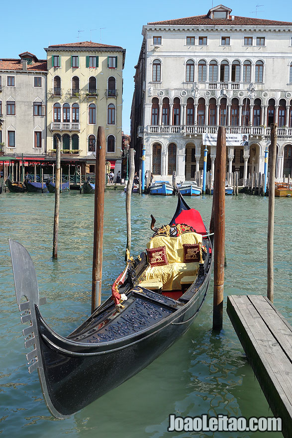Adorable Gondola parked in Venice
