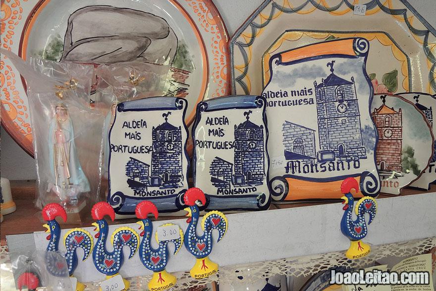 Handicraft inside a shop