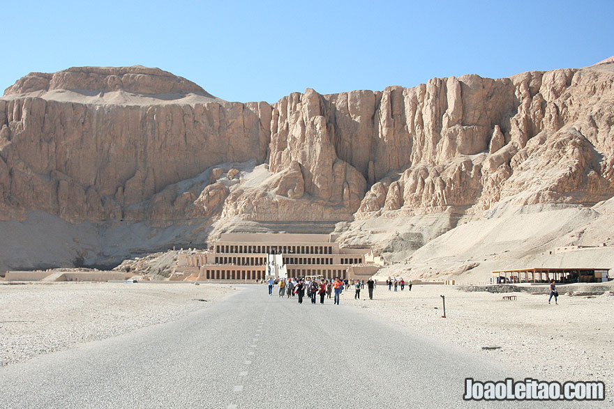Main entrance to Mortuary Temple of Hatshepsut in Luxor
