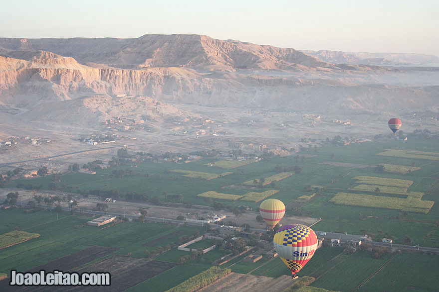 View of the Valley of the Kings and Deir al Bahri