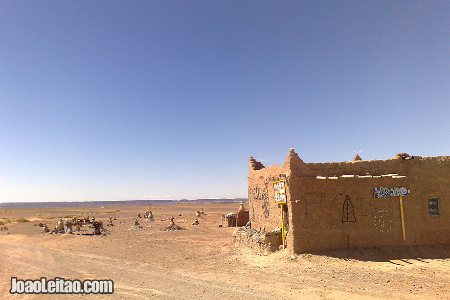 Mud house in Sahara Desert