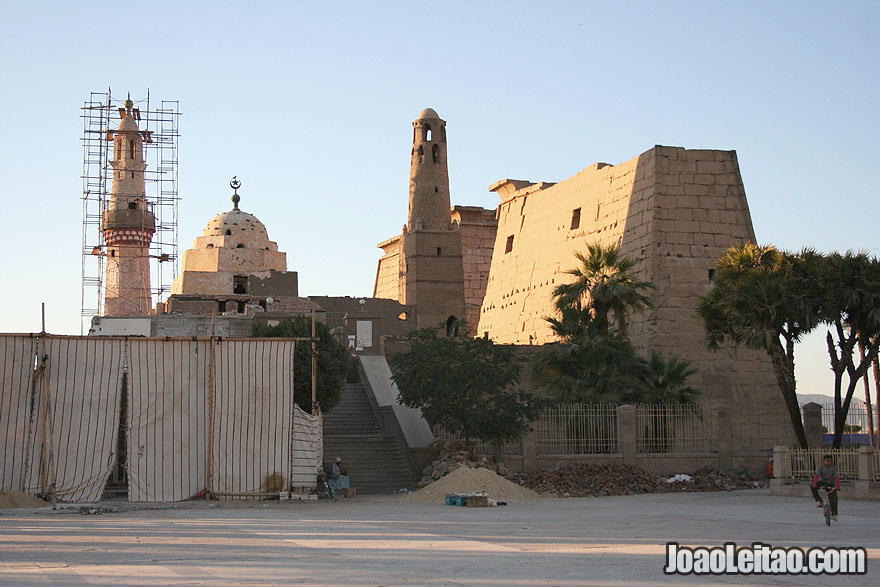 Luxor Temple complex with Abu al-Haggag Mosque