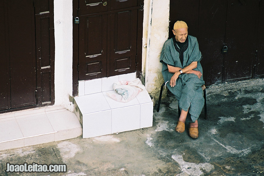 Photo of man in Fez old city, Morocco