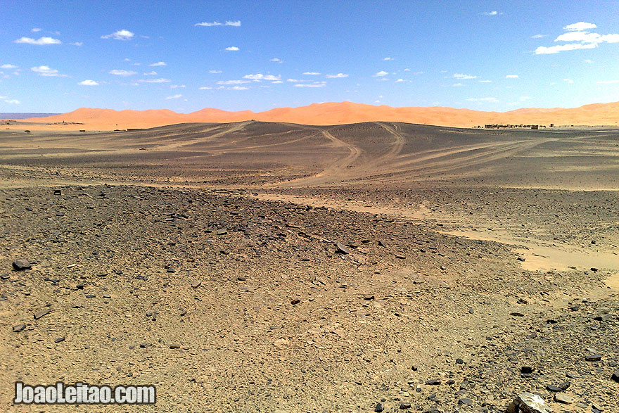 Erg Chebbi Dunes and tracks
