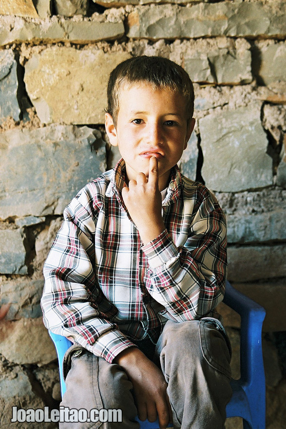 Photo of young Moroccan boy in the Atlas Mountains, Morocco