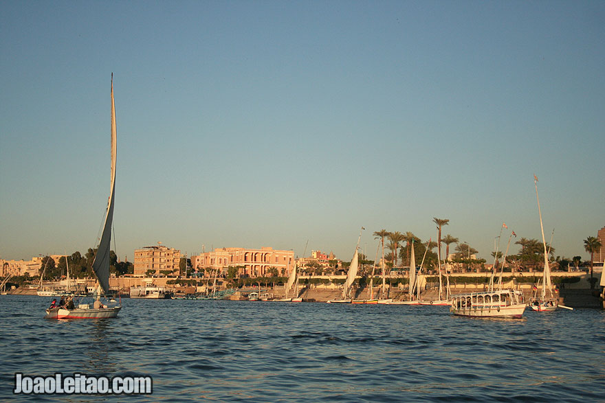 Felucca boat on the Nile river in Luxor