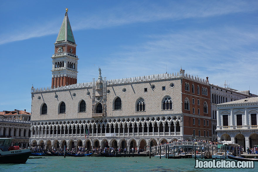 View of the Doge Palace in Venice