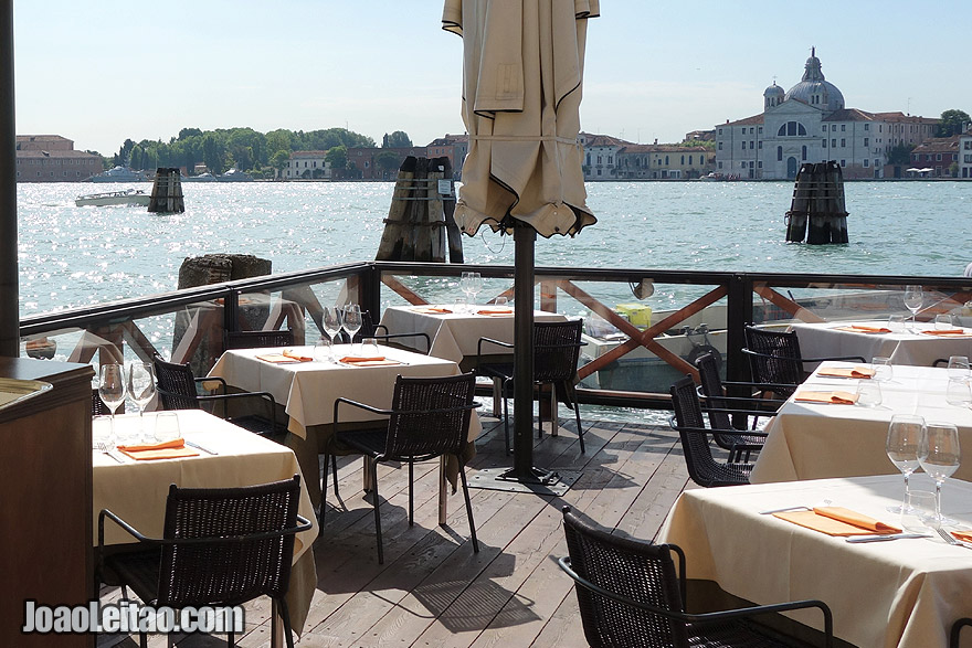 Venice Restaurant overlooking the canal