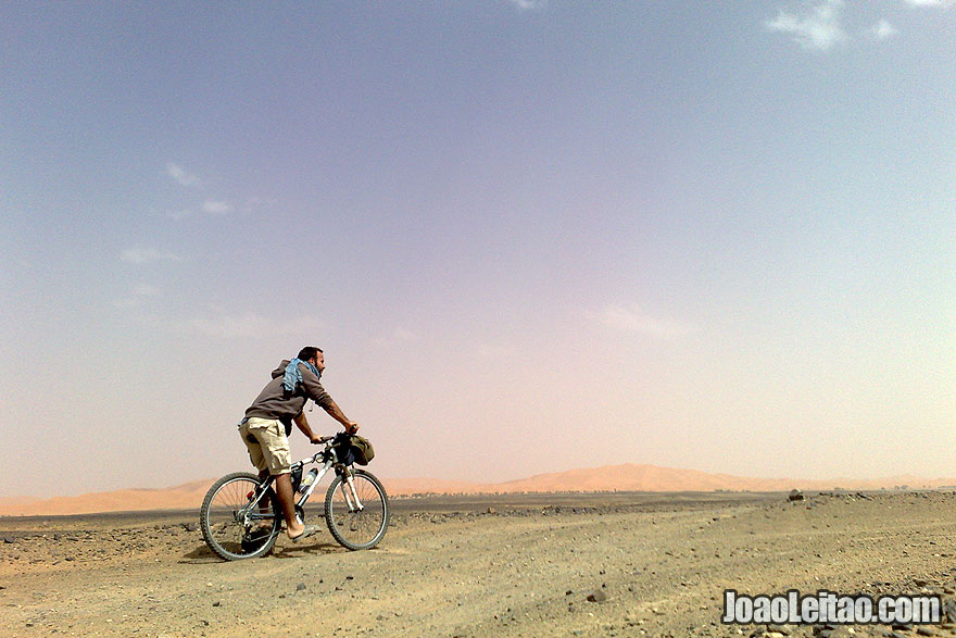 Bicycle ride the Sahara Desert in Morocco