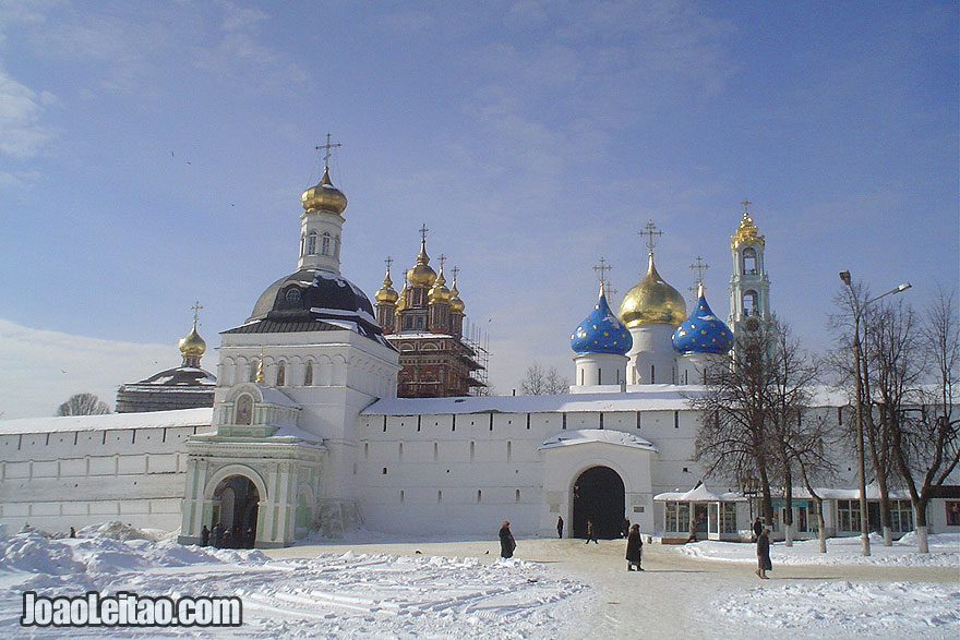 Sergiev Posad home to the medieval Trinity Monastery of St. Sergei