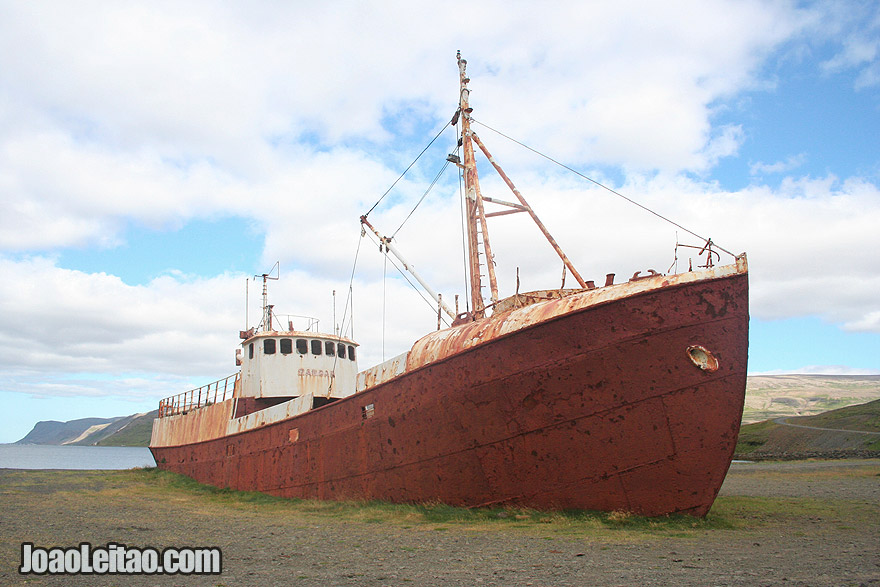 Visit Skapadalur Gardar BA 64 Shipwreck Westfjords Region Iceland