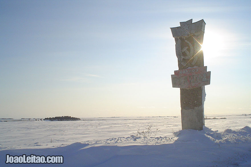 Driving in Russia – Winter Madness Edition - photo of Soviet Union time road mark