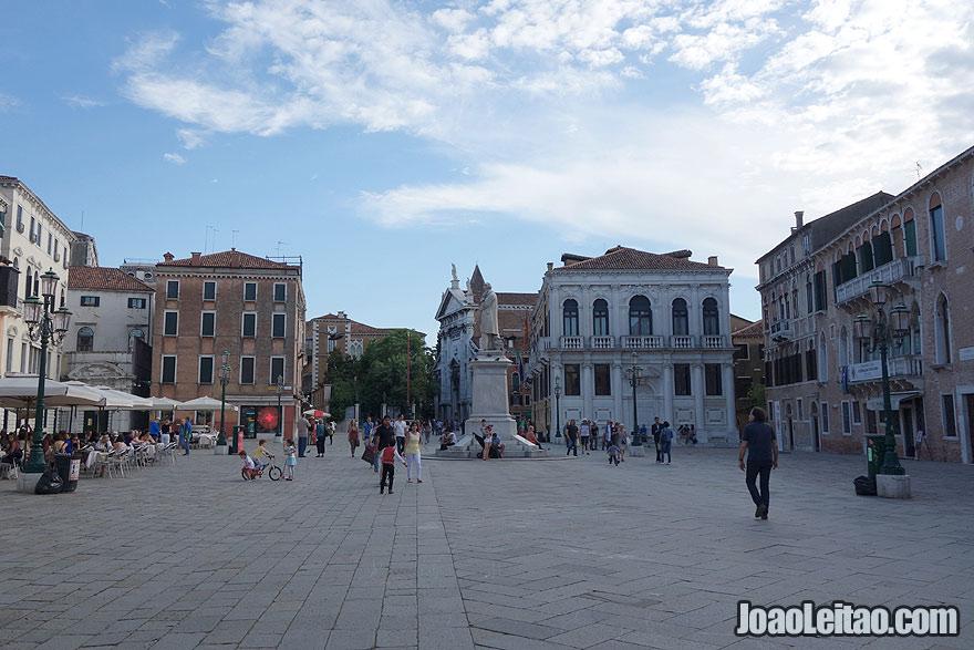 Campo Santo Stefano Square in Venice