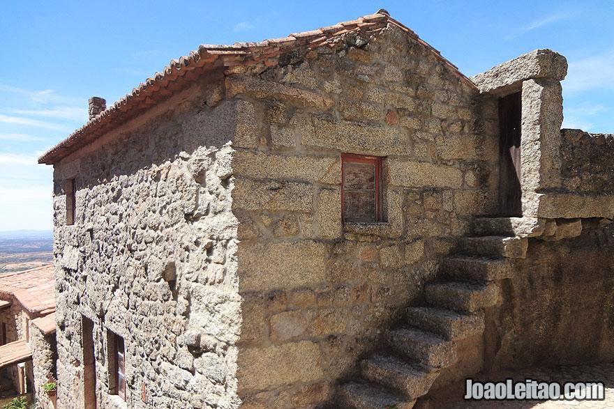Granite stone house in Monsanto village