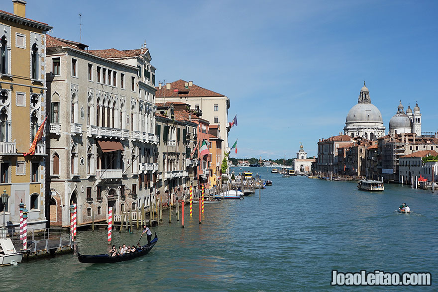 View of the Gran Canal with the Basilica of St Mary of Health