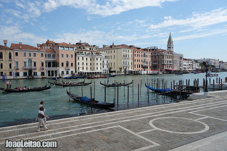 View of Venice from the entrance of the Grand Canal