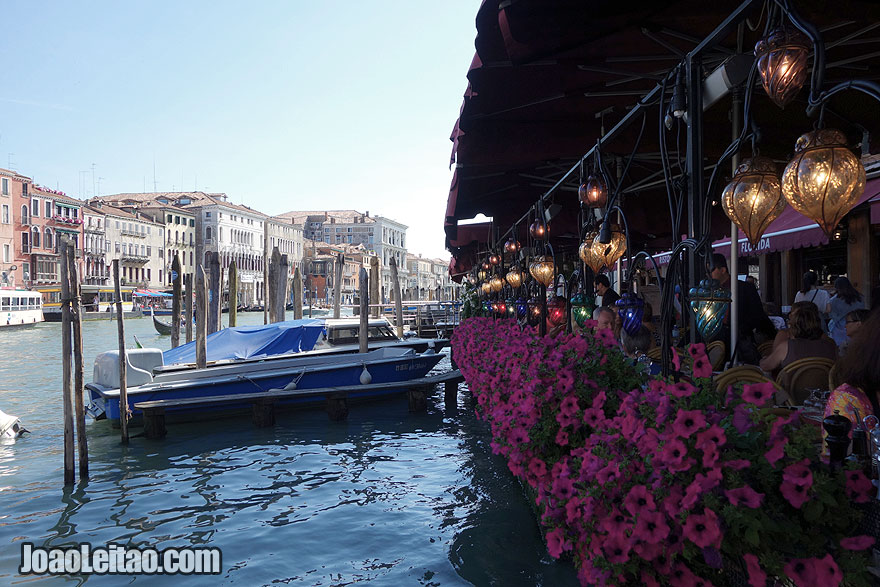 Restaurant in Venice Grand Canal