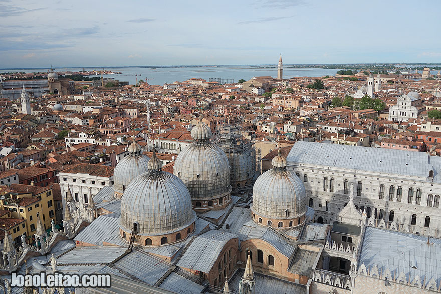 Panorama over Venice old city, Italy
