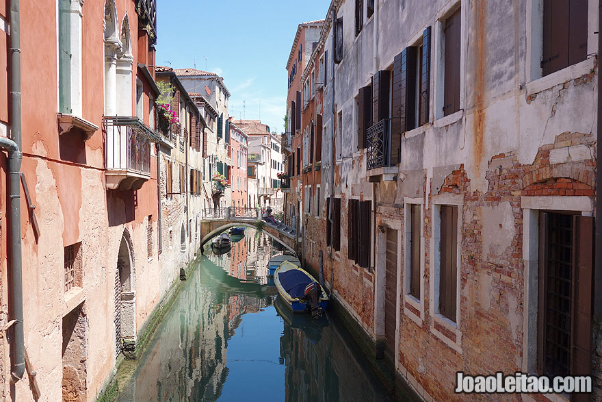 Picturesque Venice water canal