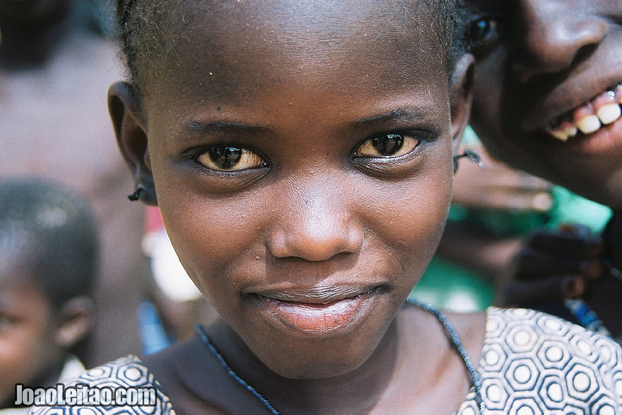 Girl in Ndioum village, Senegal