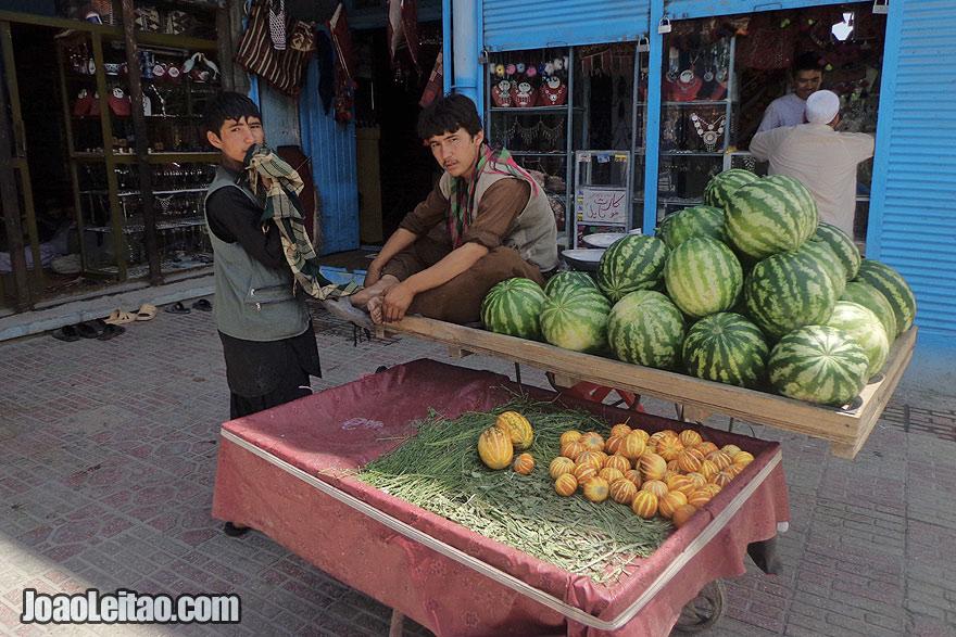 Fresh fruits in Mazar-i-Sharif
