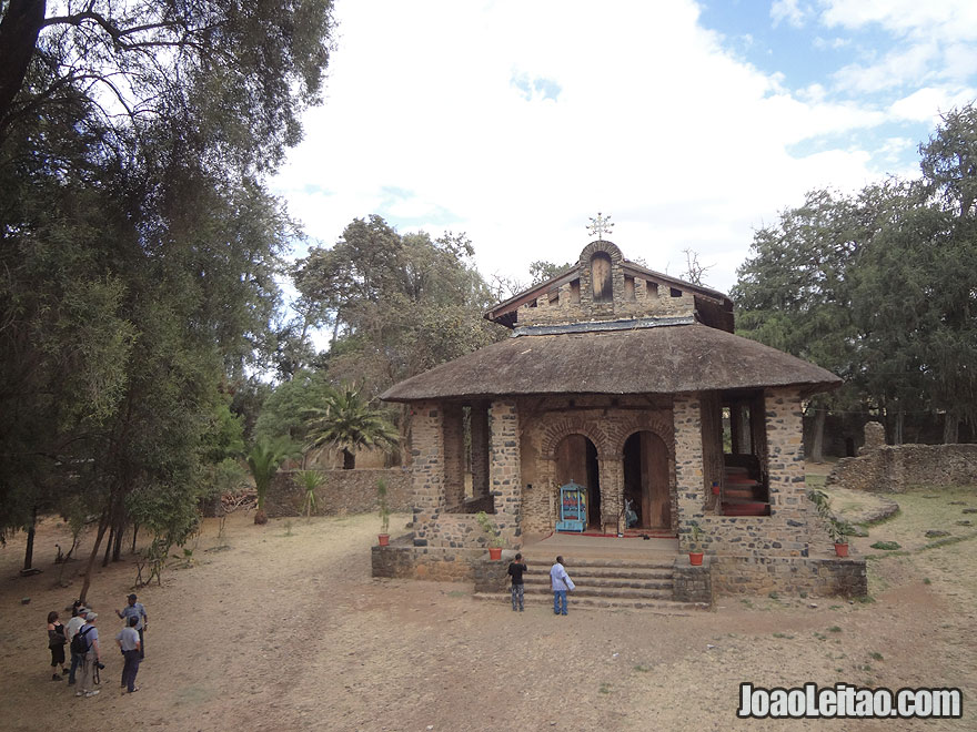 17th Century Gondar Debre Birhan Selassie church built by Emperor Eyasu II, Ethiopia