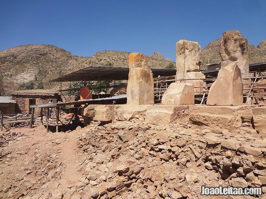 Ruins of Grat Beal Gebri in Yeha, Ethiopia